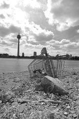 Müll im Rhein