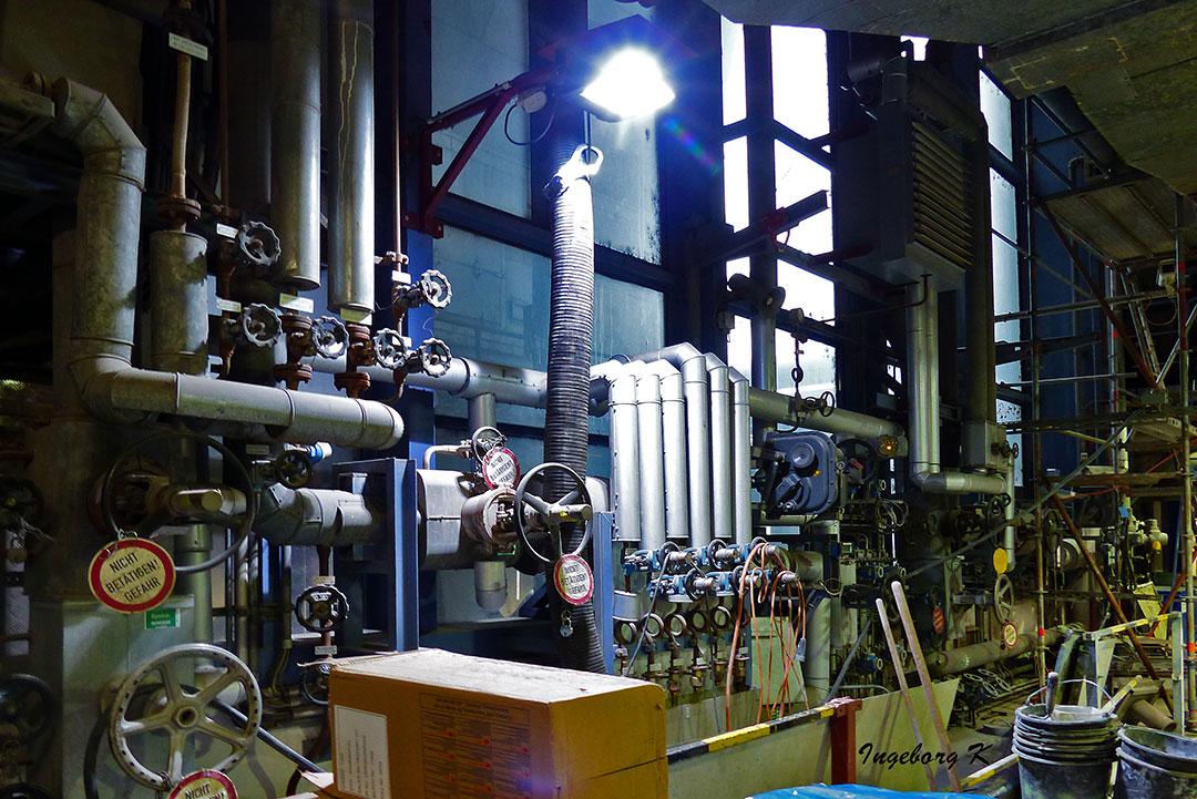 Müllverbrennungsanlage Flingern - zentraler Steuerungsbereich