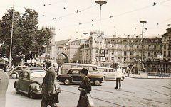 München 1961:Stachus mit Schutzmann