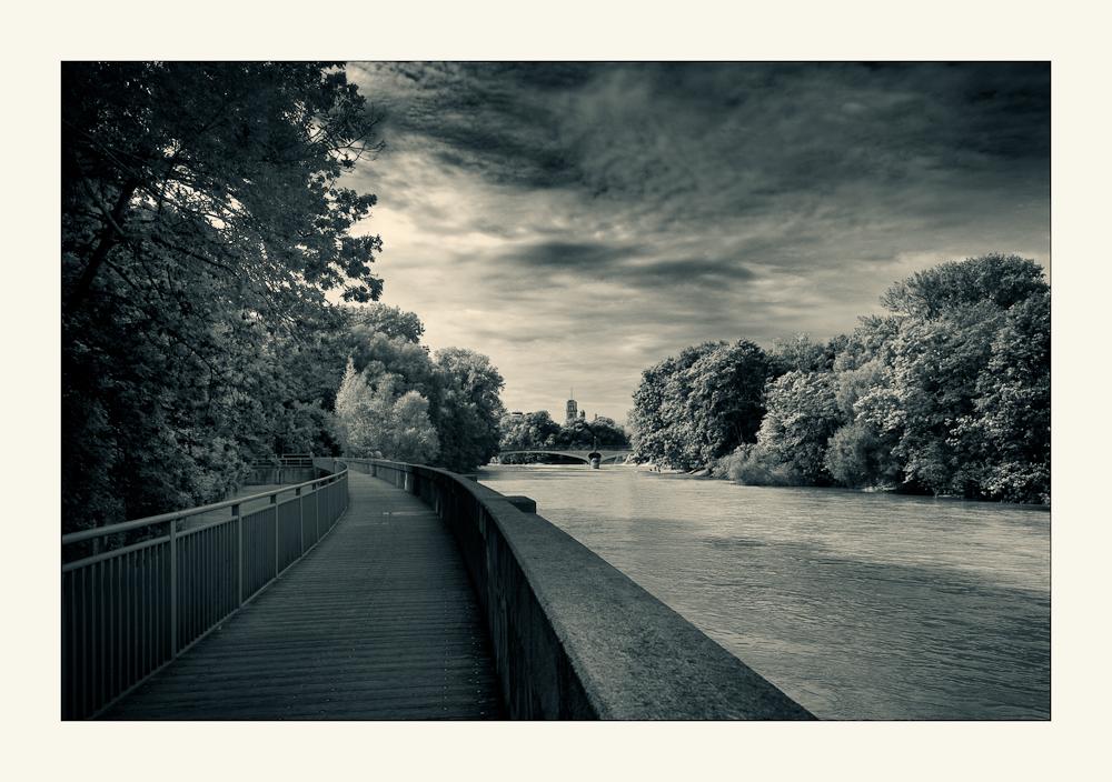 München - ein Blick über die Isar