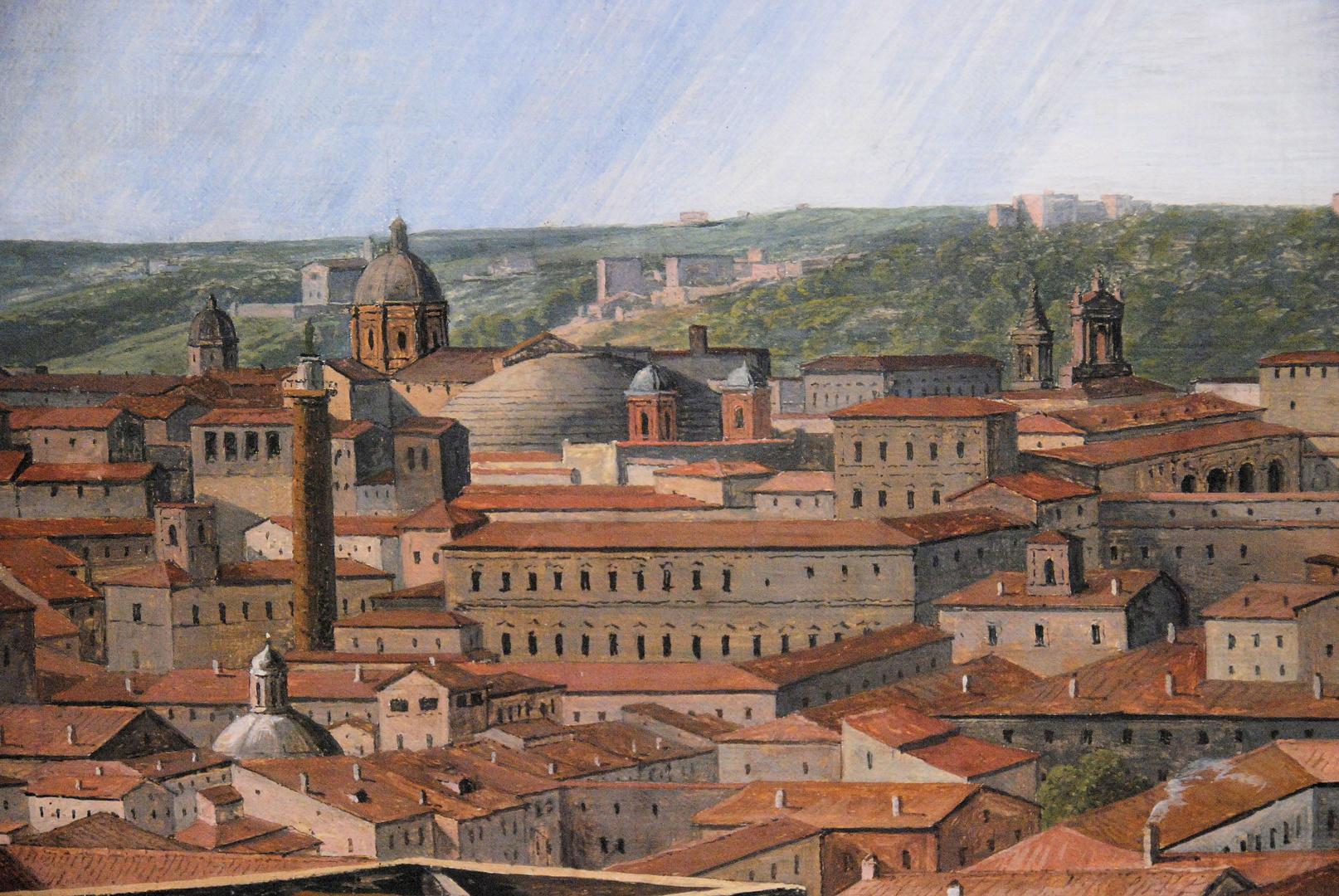 München Neue Pinakothek, Rom nach Westen von der Villa Malta, detail