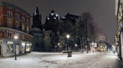 Münsterplatz an einem kalten Januarabend