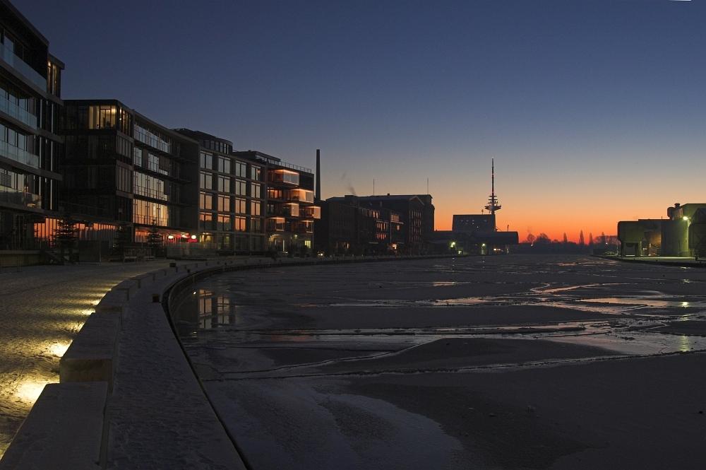 Münsters Hafen heute morgen I