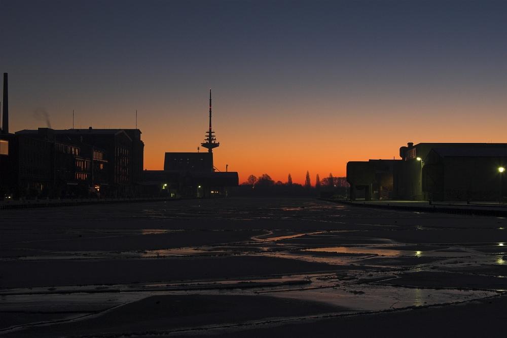 Münsters Hafen heute morgen IV