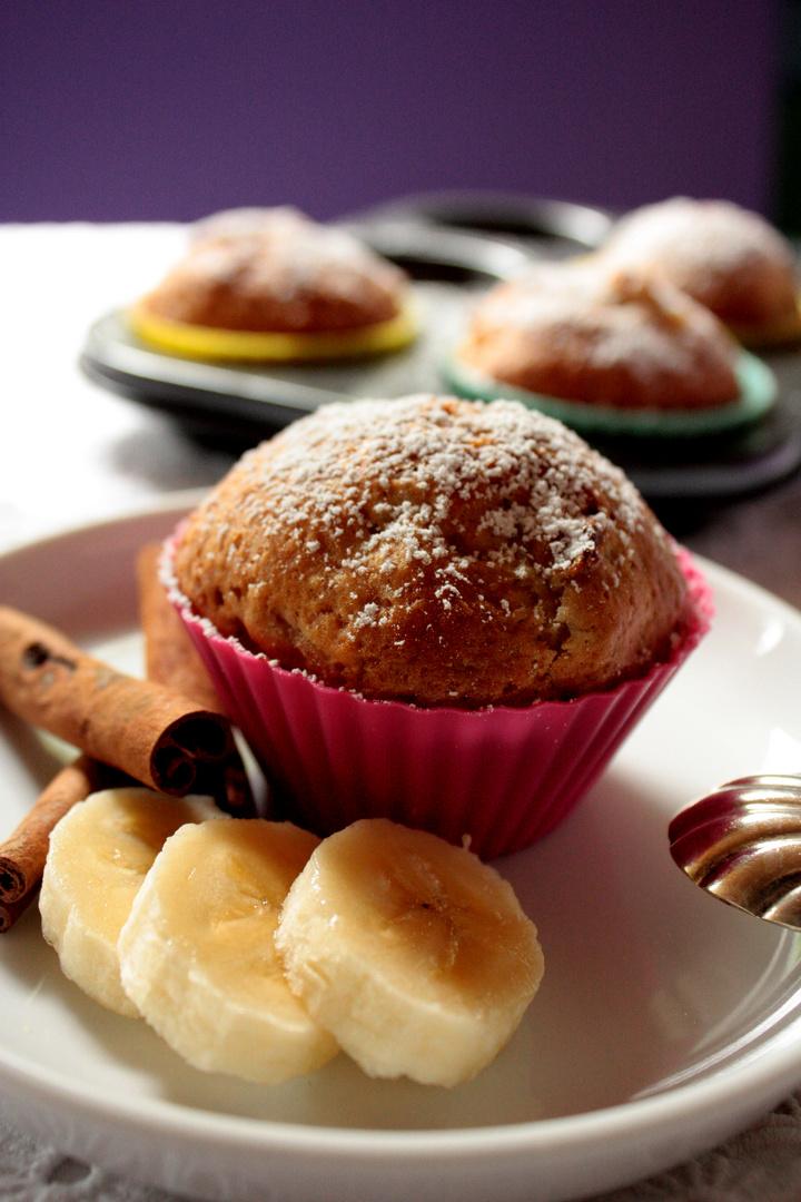 Muffin mit Zimt und Banane