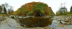 Mulde im Herbst