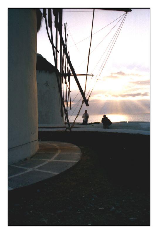 mulini al tramonto