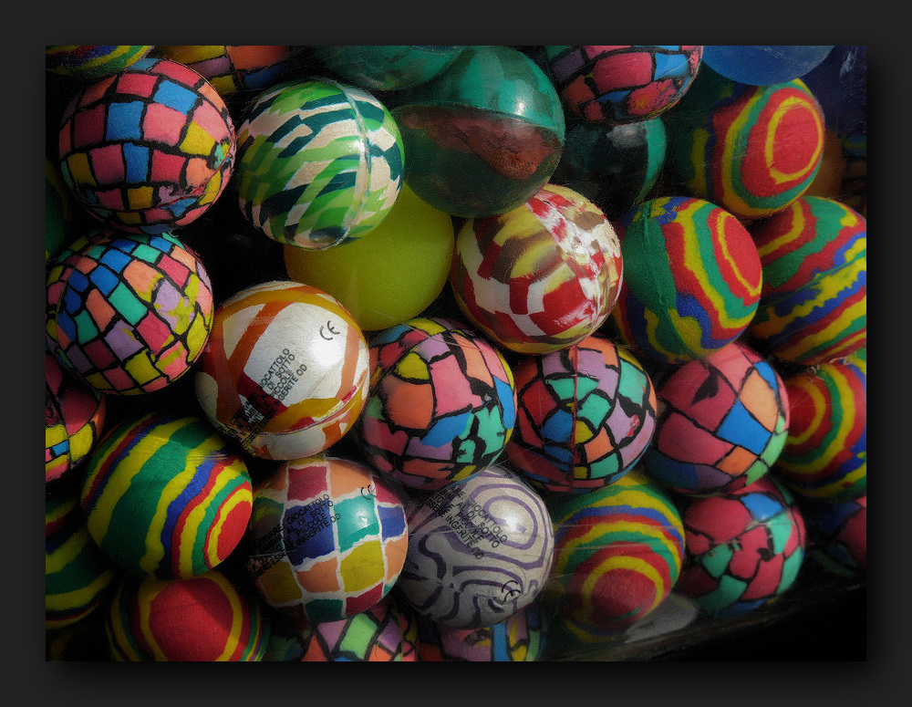 Multi-colored balls with patterns