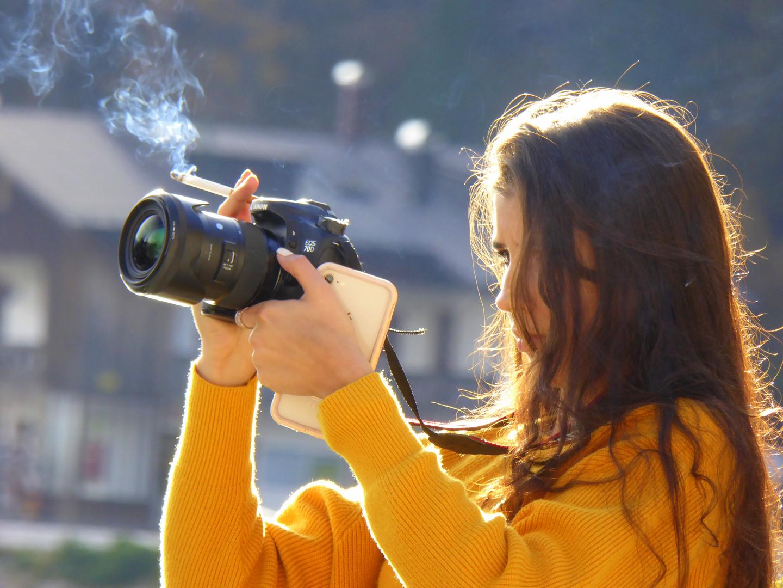 Multitasking oder: Die Fotografin