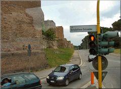 Muraglia romana a Roma.
