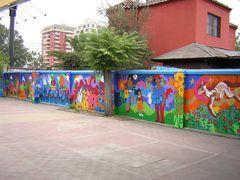 mural colegio claretiano santiago chile