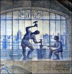 Mural de la Casa Real de la Moneda del Reino de Valencia