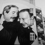 Murals in memory of Giovanni Falcone and Paolo Borsellino