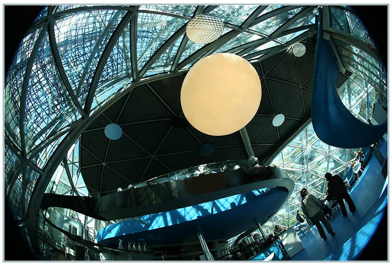 "murinsel @ graz, ""lazy fisheye overhead interior shot"""