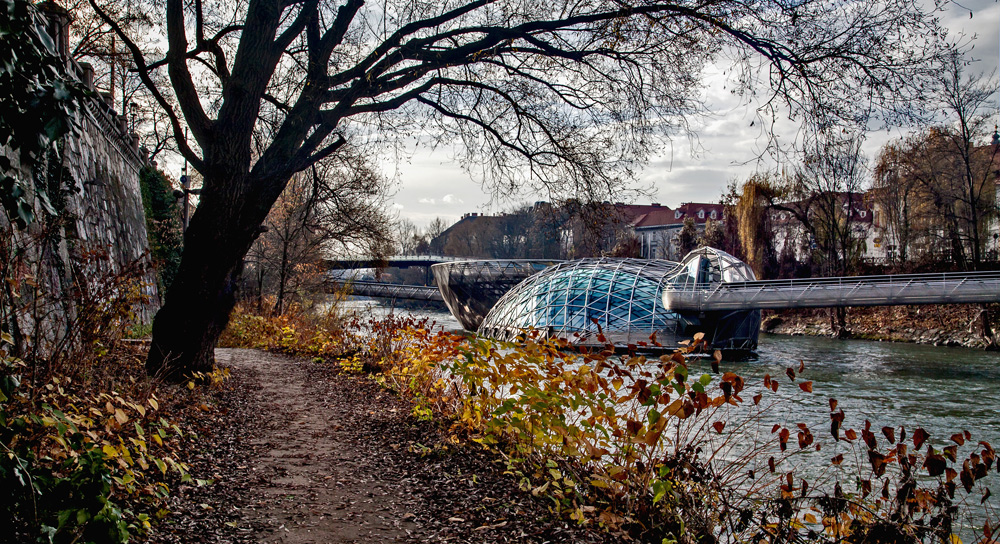 Murinsel in Graz ...