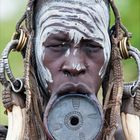 [ Mursi Tribe Woman with Lip Plate ]