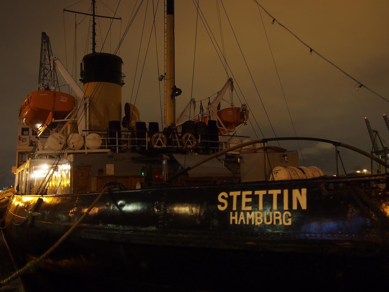 Museumsschiff an der Övelgönne in Hamburg
