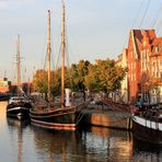 Museumsschiffe in Lübeck an der Trave