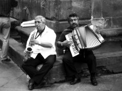 musicians, lucca, italy