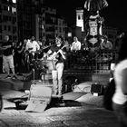 Músico sobre Ponte Vecchio (Bouna notte)
