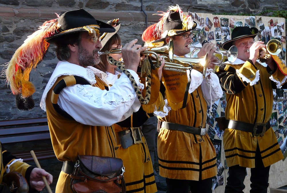 Musikanten beim Weinfest