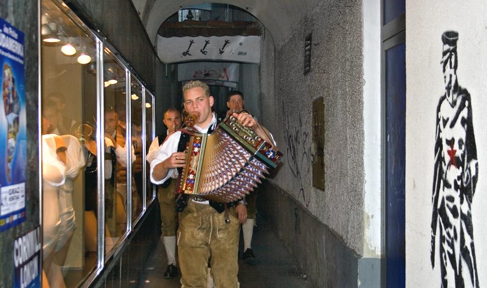 Musikanten in der Pomeranzengasse in Graz!