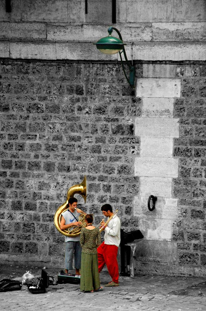 Musiker an der Seine