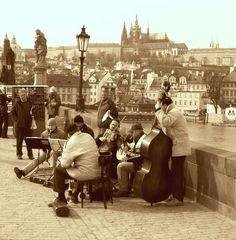 Musiker auf der Karlsbrücke