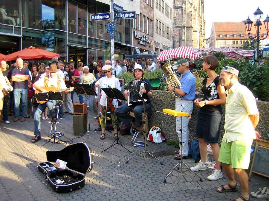 Musiker beim Bardenfest in Nürnberg