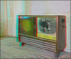 Musiktruhe mit 3D TV (3D)