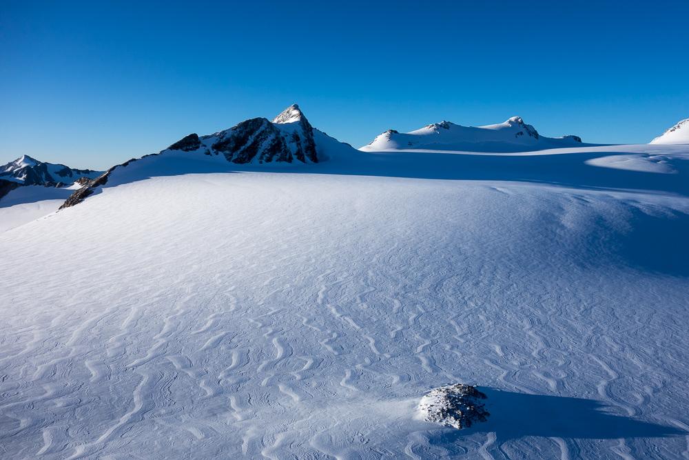 Muster auf dem Eis