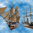 Musterschiffe zur Ballonausrichtung