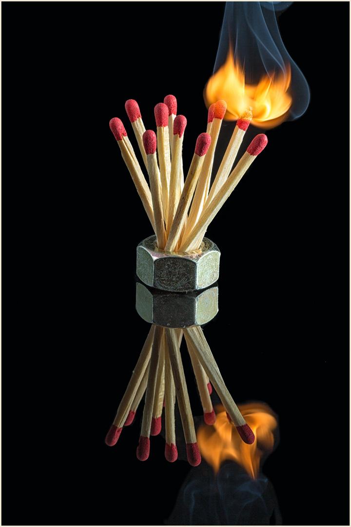 Mutter ist Feuer und Flamme