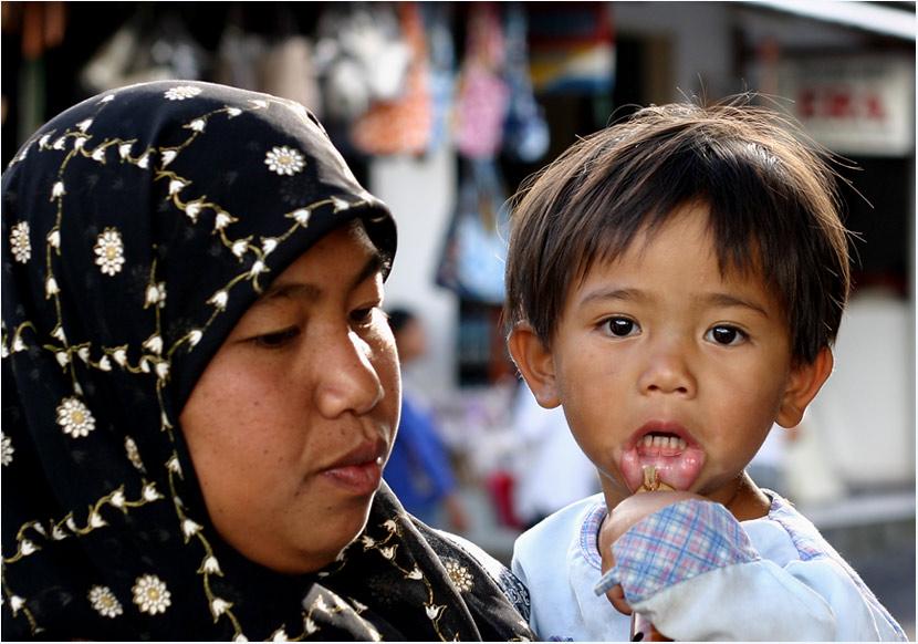 Mutter und Kind auf Bali