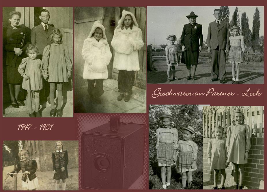Mutti nähte in der ganzen Kindheit für uns schöne Kleider.