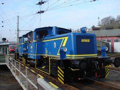 MWB V 246 & V 249 im Bw Siegen kurz vor der Abfahrt nach Pforzheim