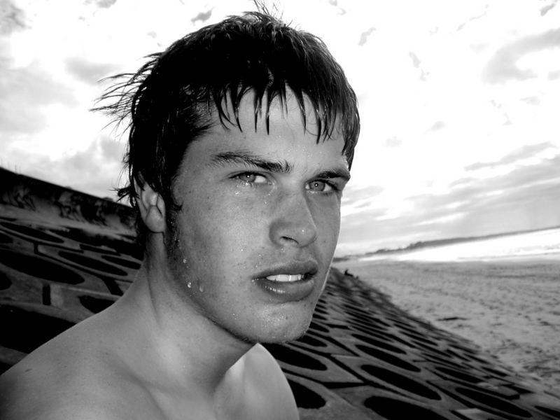 my friend at the beach