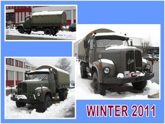 My Saurer in the parking in Winter