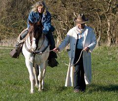 My secre on a horseback ...