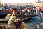 Myanmar, Burma, morgens auf dem Fischmarkt