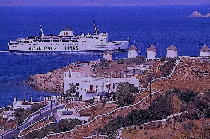 Mykonos Hafeneinfahrt