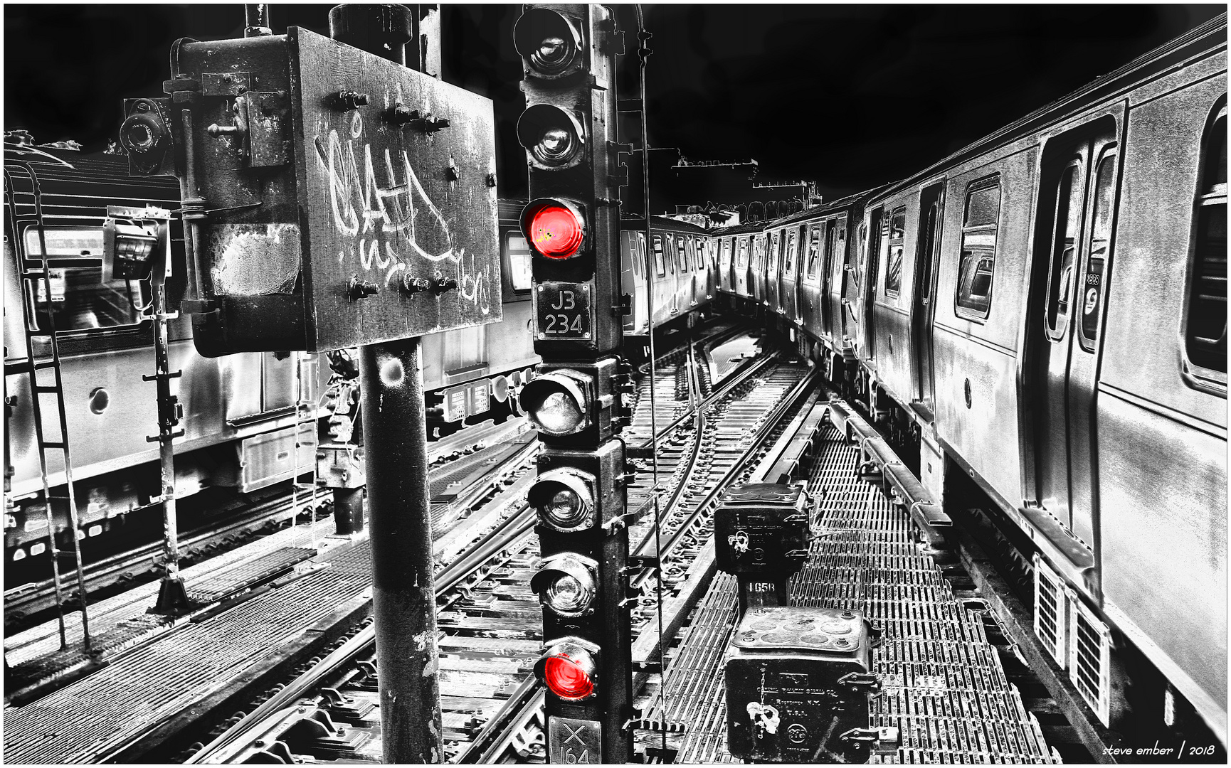 Myrtle Avenue Crossover - A New York City Subway Impression