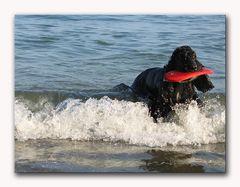 Myself nach dem Surfen ...  gestrandet ...