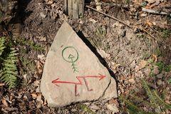 mysthische Zeichen im Wald