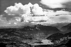 Mystische Wolken über den Mythen