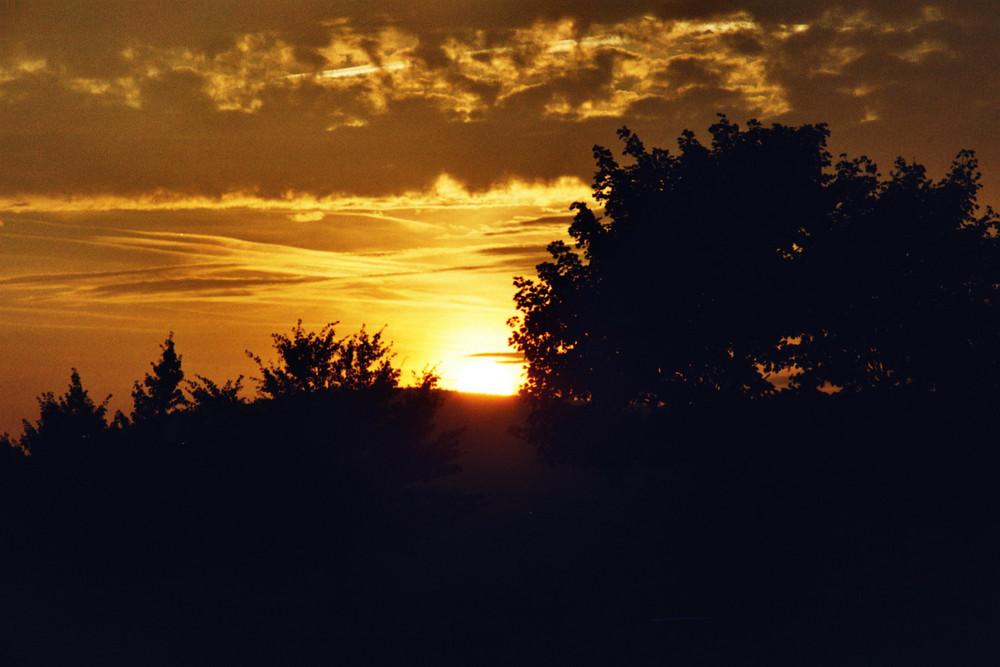 mystischer Sonnenuntergang
