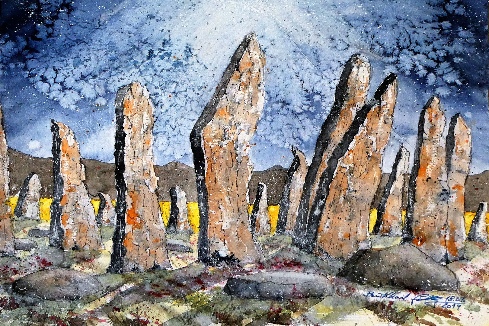 Mystischer Steinkreis in Schottland