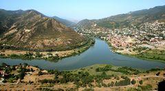 Mzcheta, Stadt am Zusammenfluss