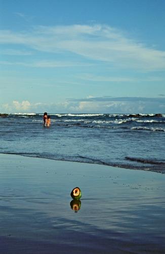 Na praia en Salvador do Bahia / Brasil