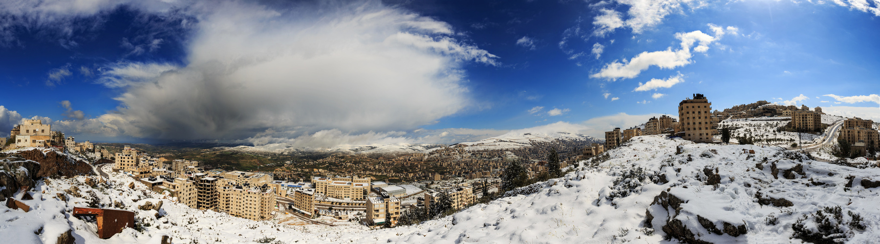 Nablus in Snow